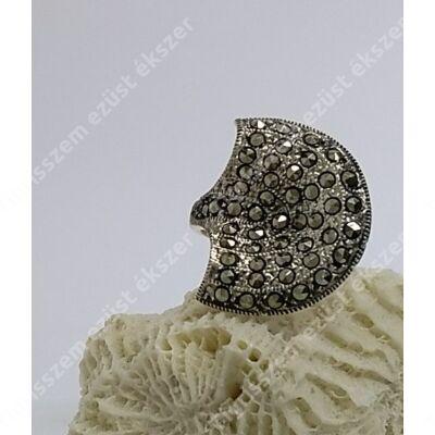 Ezüst gyűrű MARKAZIT 56-os