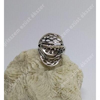 Ezüst gyűrű MARKAZIT 58-as