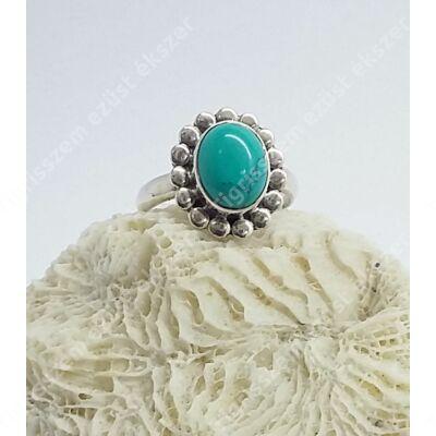 Ezüst  női gyűrű türkizzel 55-ös