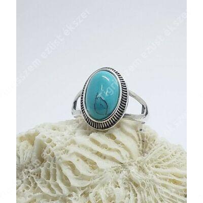 Ezüst gyűrű türkiz 57-es