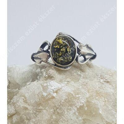Ezüst gyűrű BOROSTYÁN 59-es(zöld)