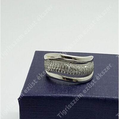 Ezüst gyűrű cirkónia kővel 51-es