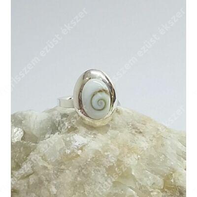 "Ezüst gyűrű ""SHIVA CSIGA"" 54-es"
