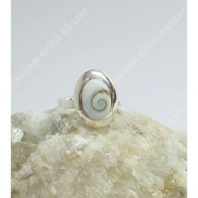 "Ezüst gyűrű ""SHIVA CSIGA"" 58-as"