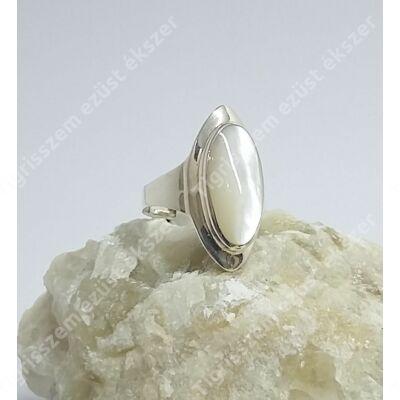 Ezüst gyűrű GYÖNGYHÁZZAL 52-es