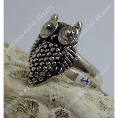 Ezüst gyűrű bagoly 53-as