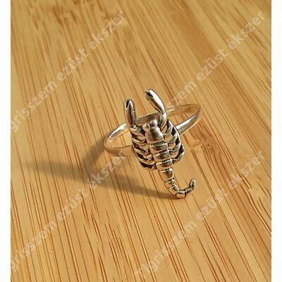 Ezüst gyűrű,skorpió 61-es
