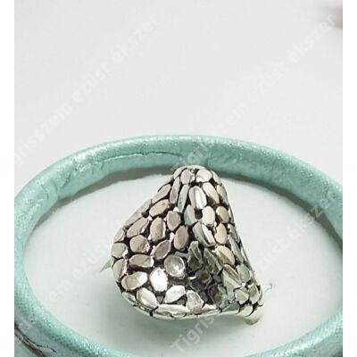 """Ezüst gyűrű """"pikkelyes""""54-es"""