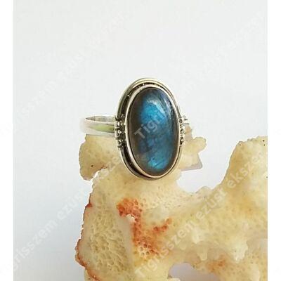 Ezüst gyűrű LABRADORIT kővel 56-os