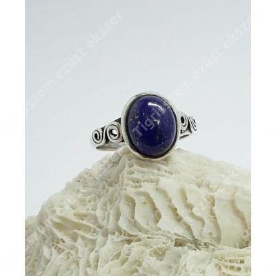 Ezüst gyűrű lápisz lazuli 60-as