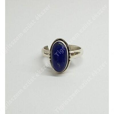 Ezüst gyűrű LÁPISZ kővel 56-os