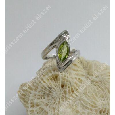 Ezüst gyűrű PERIDOT/OLIVIN  52-es