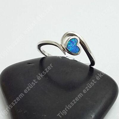 Ezüst gyűrű opállal 57es
