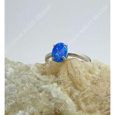 Ezüst gyűrű opállal 54-es
