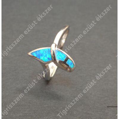 Ezüst gyűrű ,női ,kék opállal 59-es
