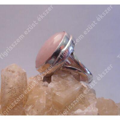 Ezüst  gyűrű RÓZSAKVARC 54