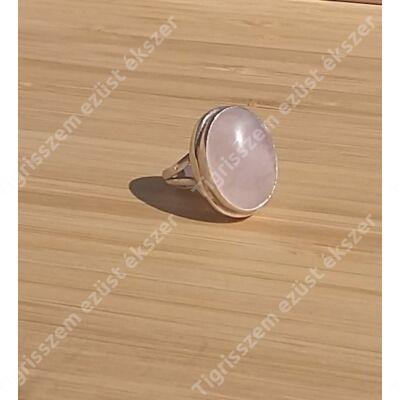 Ezüst gyűrű RÓZSAKVARC 54-es