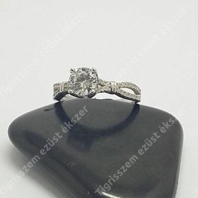 Ezüst gyűrű cirkóniával 57-es