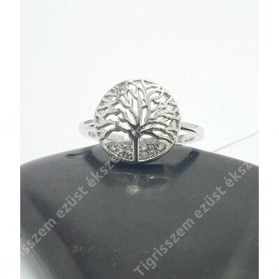 Ezüst gyűrű életfa,cirkóniával 53-as