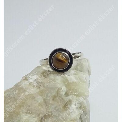 Ezüst gyűrű tigrisszem kővel 54-es