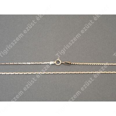 Ezüst   női nyaklánc,antikolt lapos