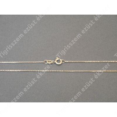 Ezüst   női nyaklánc kocka