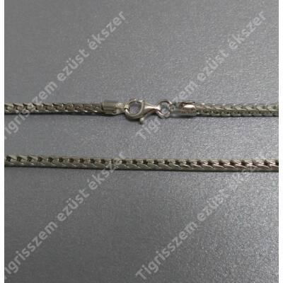 Ezüst lánc,fonott vastag,ródiumos 55 cm