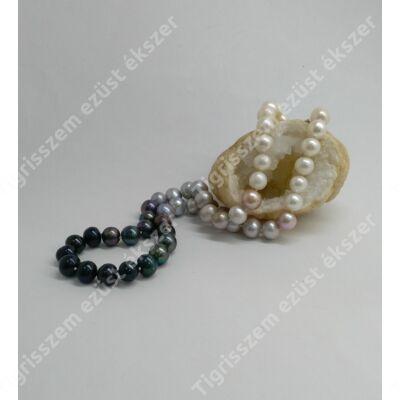 Édesvízi tenyésztett gyöngy nyaklánc ezüst kapoccsal