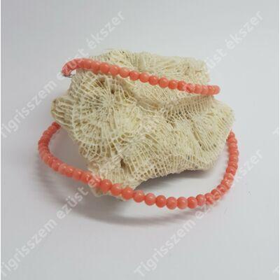 Korall lánc (ezüst szerelékkel)