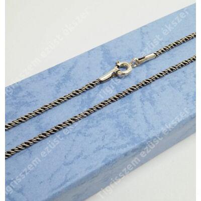 Ezüst lánc,antikolt csavart 80 cm