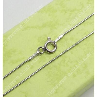Ezüst lánc vékony kígyó,ródiumos 45 cm