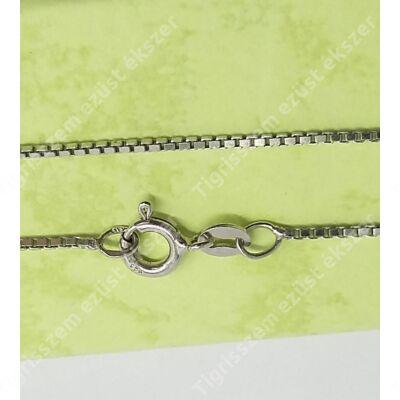 Ezüst lánc,közpes kocka,ródiumos 50 cm
