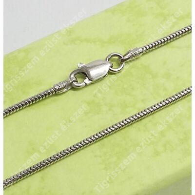 Ezüst lánc kígyó,ródiumos 50 cm
