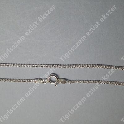 Ezüst  lánc unisex,pancer vékony 45 cm
