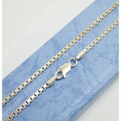 Ezüst lánc,kocka,vastag 80 cm
