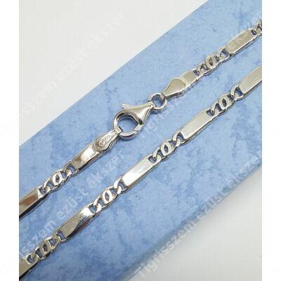 Ezüst lánc,különleges,ródiumos 50 cm