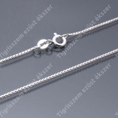 Ezüst lánc,KOCKA  45 cm