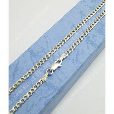 Ezüst  lánc unisex,pancer ,közepes 60 cm