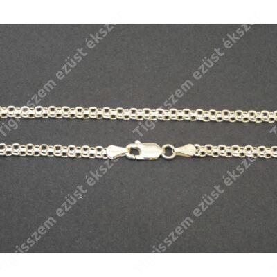 Ezüst   női nyaklánc ,Bismark 2 soros