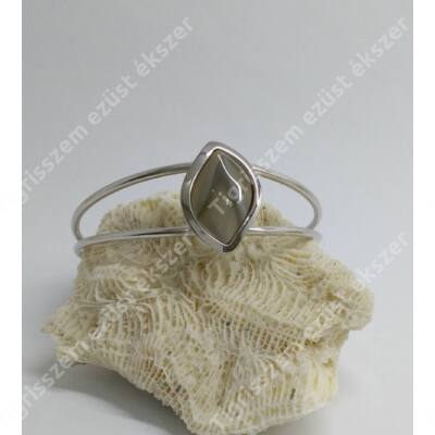 Ezüst karkötő/karlánc VALÓDI ACHÁT kővel
