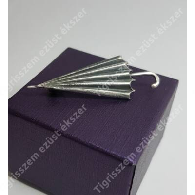 Ezüst kitűző,esernyő (IPARMŰVÉSZ)