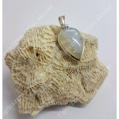 Ezüst HOLDKŐ medál,csepp forma