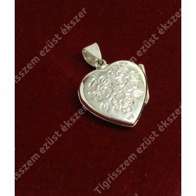 Ezüst medál nyitható szív 1