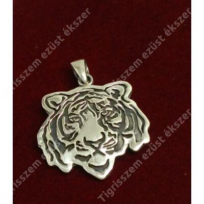 Ezüst medál tigris fej