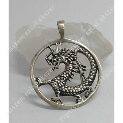 Ezüst medál sárkány
