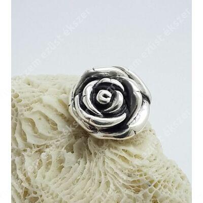 Ezüst medál,rózsa