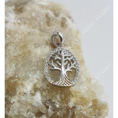 Ezüst medál cirkóniával,életfa