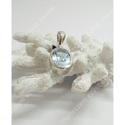 Ezüst medál valódi kék topázzal